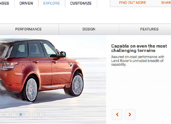 Rugged Land Rover Range Rover Sport comes with summer tires