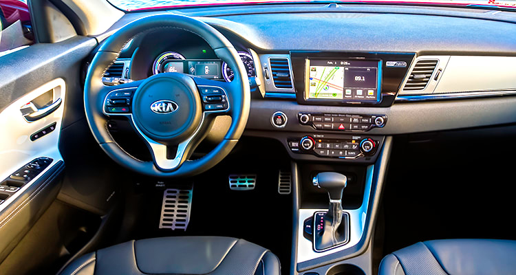 Interior of 2017 Kia Niro