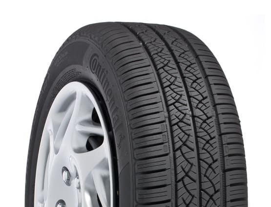 A performance all-season car tire.