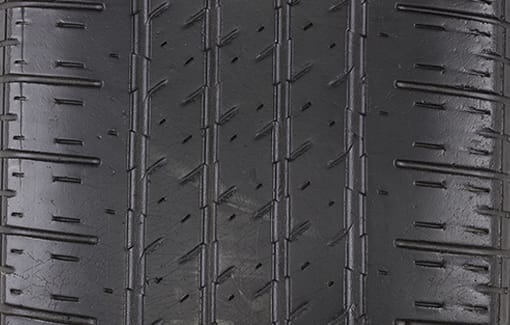 Close-up picture of a properly maintained tire.