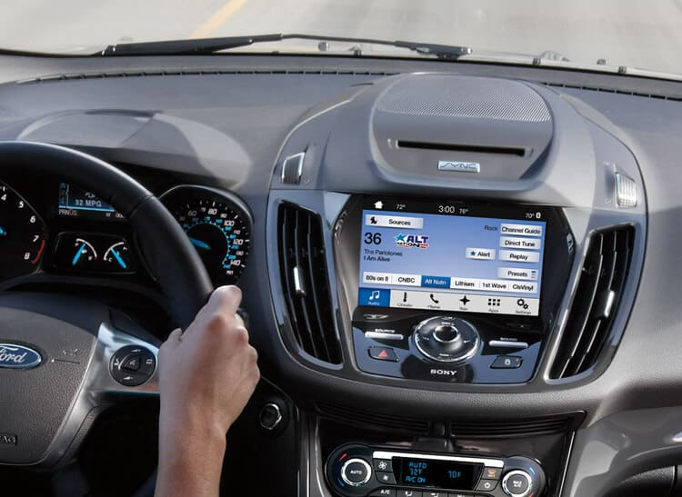Ford Sync on the road in an Escape.