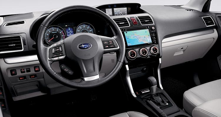 The interior of the 2017 Subaru Forester receives some enhancements over the 2016 Subaru Forester interior shown here.