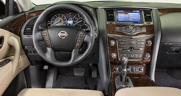 2017 Nissan Armada Configurations >> 2017 Nissan Armada Handles Like A Boat With A Very Retro