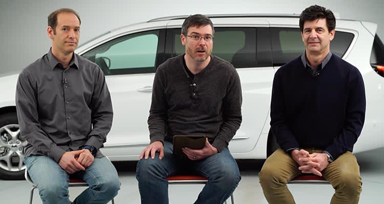 Consumer Reports Auto Engineers Jake Fisher, Tom Mutchler, and Gabe Shenhar.