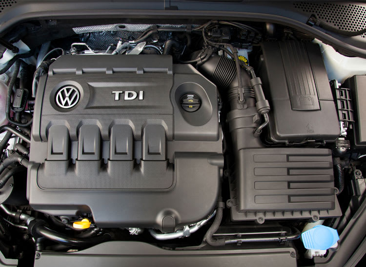 An image of the Volkswagen diesel engine.