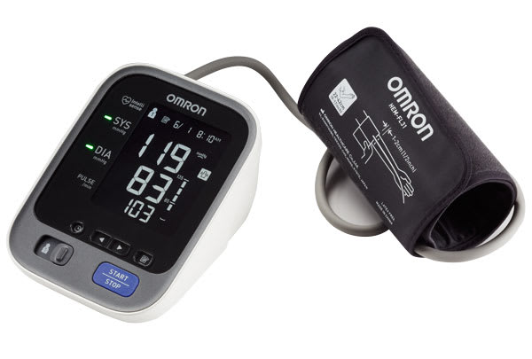 A blood pressure monitor.