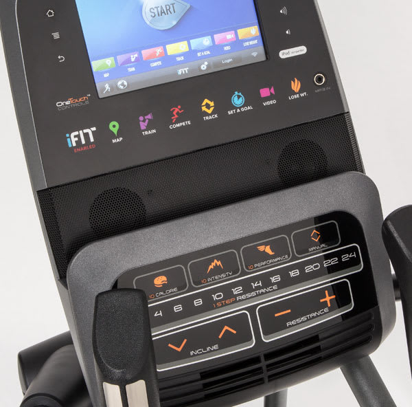 An elliptical without a heart rate program.