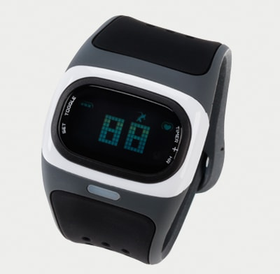 Photo of a continuous-reading, wristwatch style heart-rate monitor.