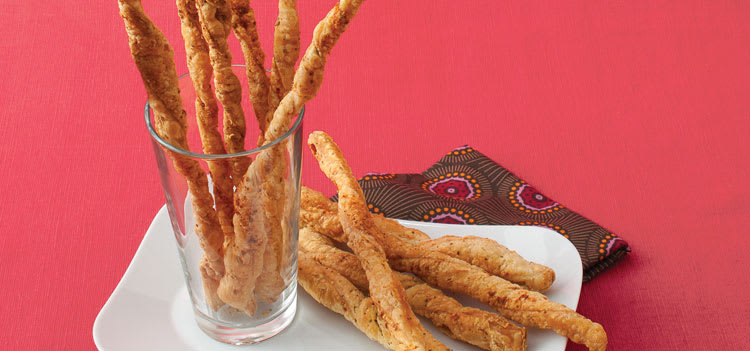 Cheese Straws With Fennel Seed and Rosemary is an easy appetizer.