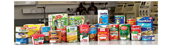 Concern over canned foods