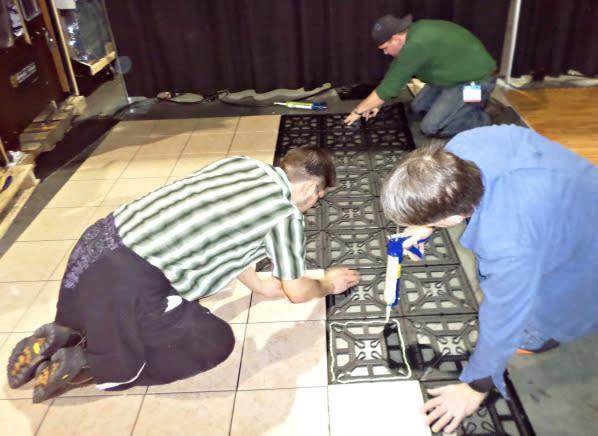 New Flooring Option Floating Tile