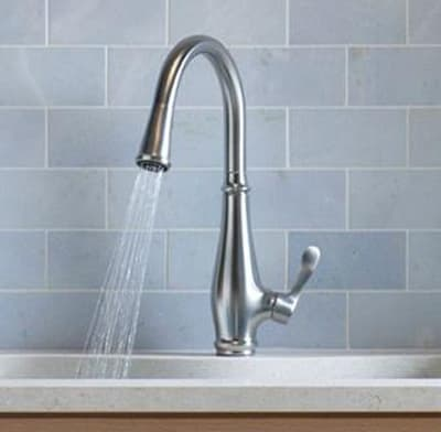 Photo of a single-handle faucet.