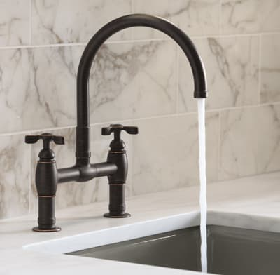 Photo of a two-handle faucet.