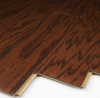 Flooring that is engineered wood.