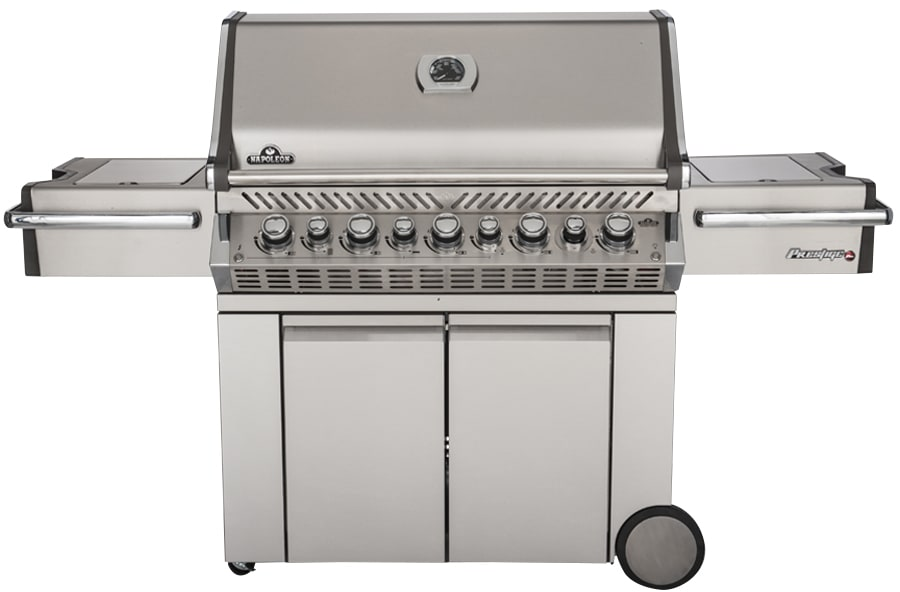 A large gas grill.