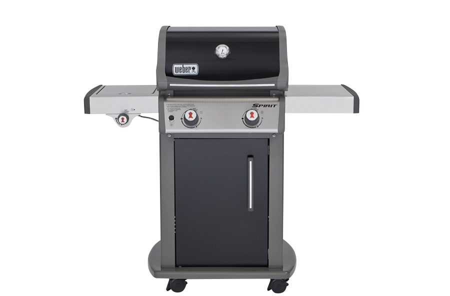 A small gas grill.