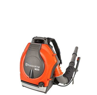 A gas-powered backpack leaf blower.