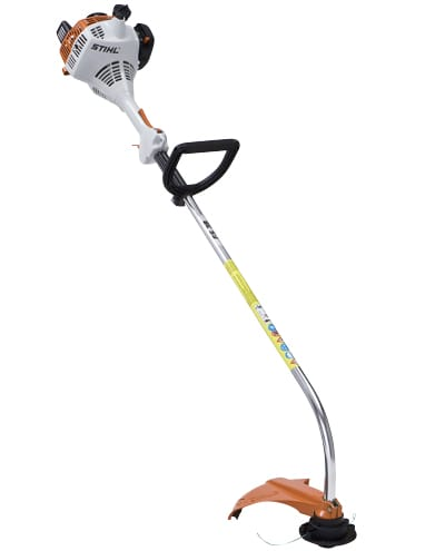 A gas-powered string trimmer.
