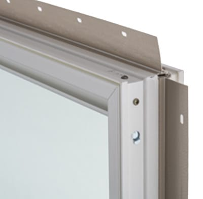 A fiberglass window frame.