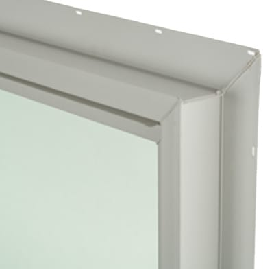 A vinyl window frame.