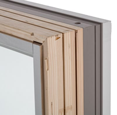 A wood window frame.