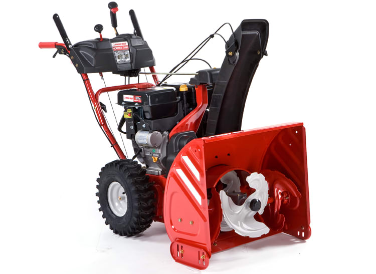 The Troy-Bilt Vortex 2890 31AH55Q, a two-stage, gas-powered snow blower.