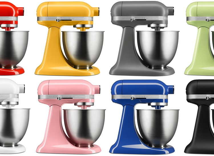 KitchenAid mixers for smaller kitchens..