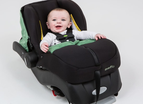 infant car seat bootcover