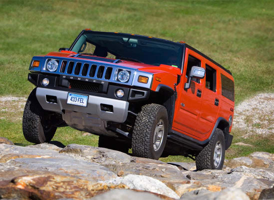 2008 Hummer H2 on the rock hill