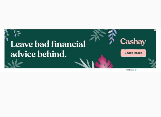 An ad for the finacial website Cashay we saw on the Huffington Post. The next slide shows the cookie that triggered this ad.