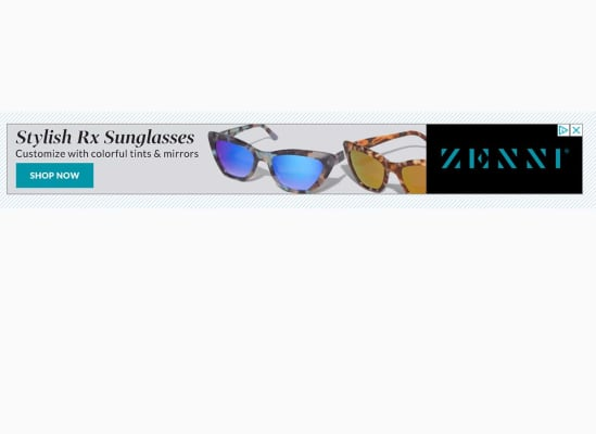 An ad for Zenni Optical we saw on a local news site. The next slide shows the cookie that triggered this ad.
