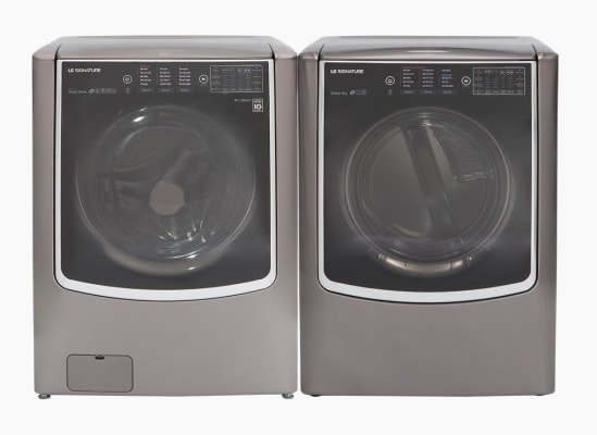 LG Signature WM9500HKA washer and LG Signature DLEX9500K dryer