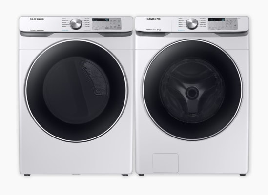 Samsung WF45T6200AW Washer and Samsung DVE45T6200W Dryer