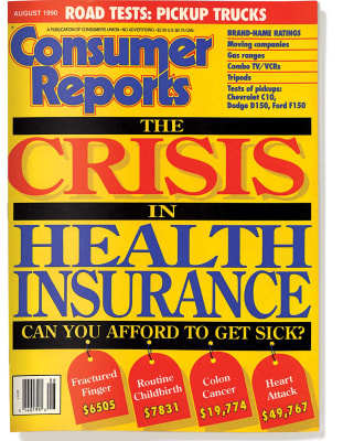 An image of the August 1990 Consumer Reports Magazine cover.