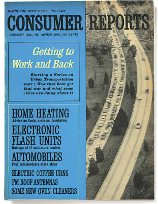 An image of the February 1965 Consumer Reports Magazine cover.