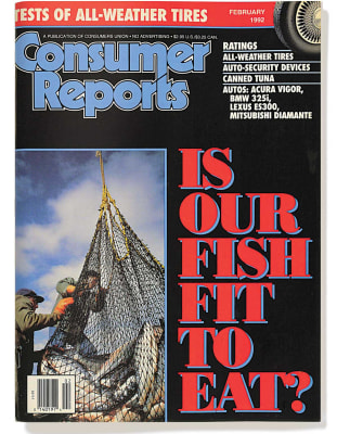 An image of the February 1992 Consumer Reports Magazine cover.