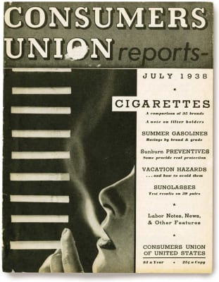 An image of the July 1938 Consumer Reports Magazine cover.