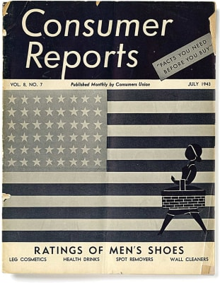 An image of the July 1942 Consumer Reports Magazine cover.