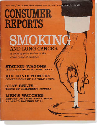 An image of the June 1963 Consumer Reports Magazine cover.