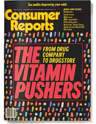 An image of the March 1986 Consumer Reports Magazine cover.