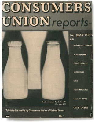 An image of the May 1936 Consumers Reports Magazine cover.