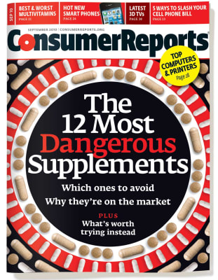 An image of the September 2010 Consumer Reports Magazine cover.