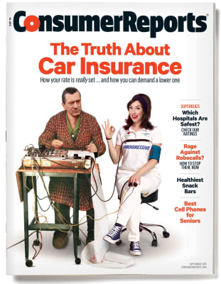 An image of the September 2015 Consumer Reports Magazine cover.