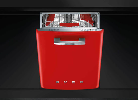 A Smeg dishwasher with retro styling