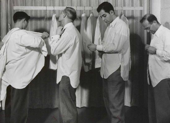 Nylon shirts, 1950