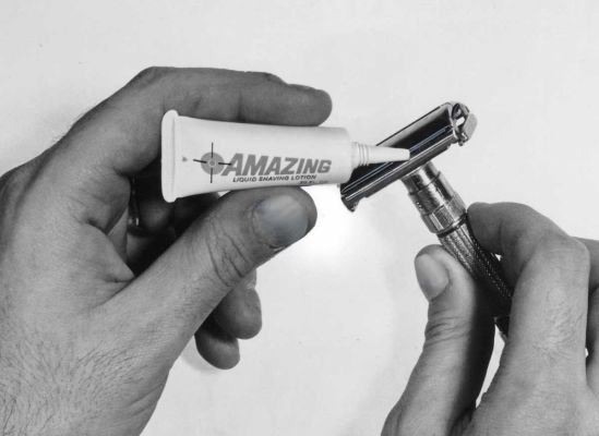 Liquid shaving lotion, 1967
