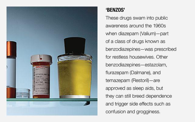 A pill bottle of benzos, a kind of sleeping pill