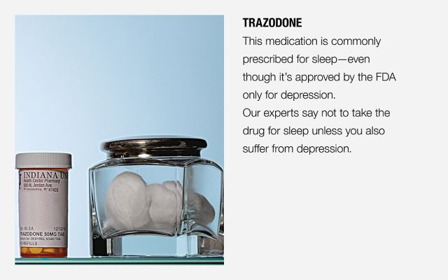 Showing a pill bottle of Trazodone