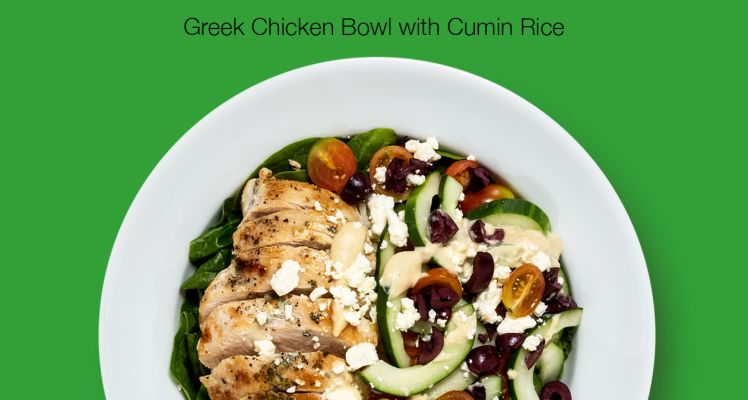 Green Chef Greek Chicken Bowl with Cumin Rice