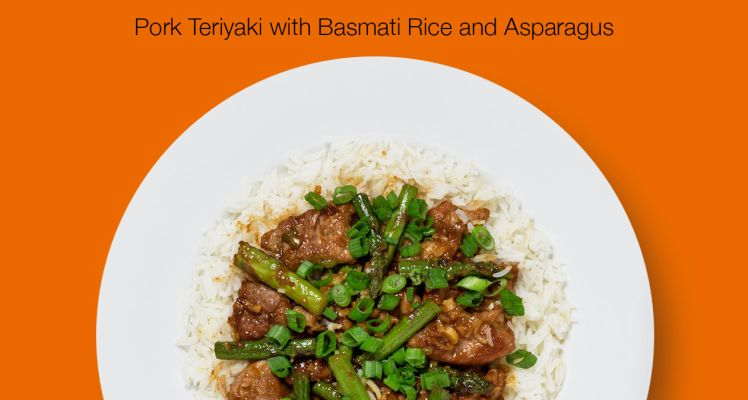 HelloFresh Pork Teriyaki with Basmati Rice and Asparagus